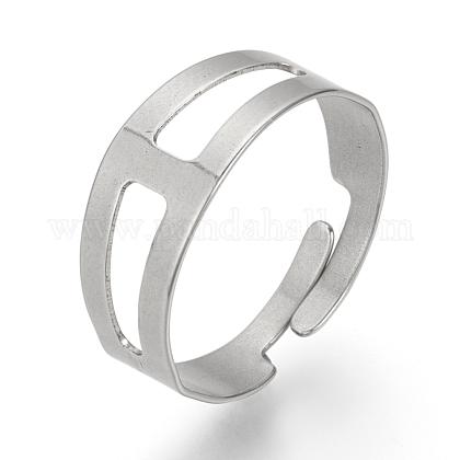 Ajustable 304 bases del anillo de dedo del acero inoxidableX-STAS-R094-18-1