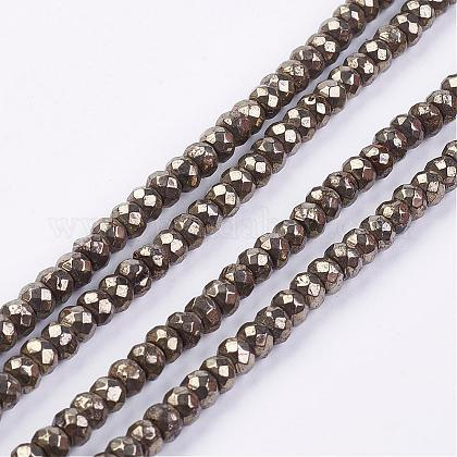 Natural Pyrite Bead Strands G-G673-05-1