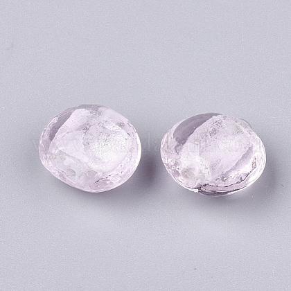 手作りの銀箔のランプワークガラスビーズSLF12MMY-1M-1