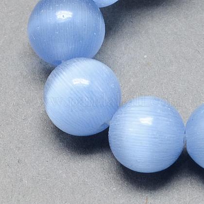 Chapelets de perles d'œil de chatCE-R002-6mm-07-1