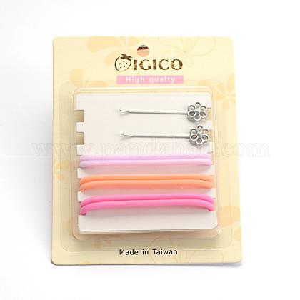 Pelo pinzas para el pelo de hierro y plástico lazos del pelo cabello accesorios para juegosOHAR-M020-08-1