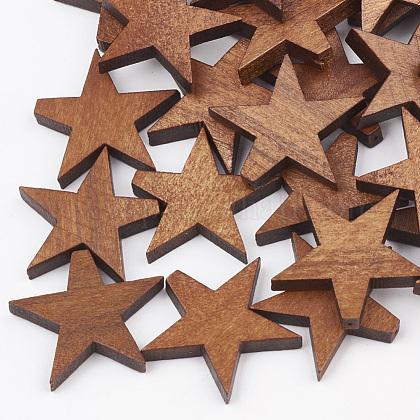 Cuentas de madera de pera naturalWOOD-T010-01E-1