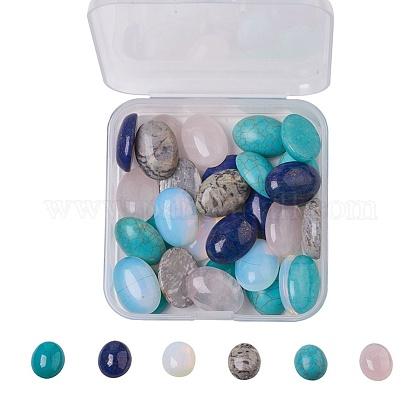 Кабошоны из натурального и синтетического смешанного драгоценного камняG-JP0001-12-1