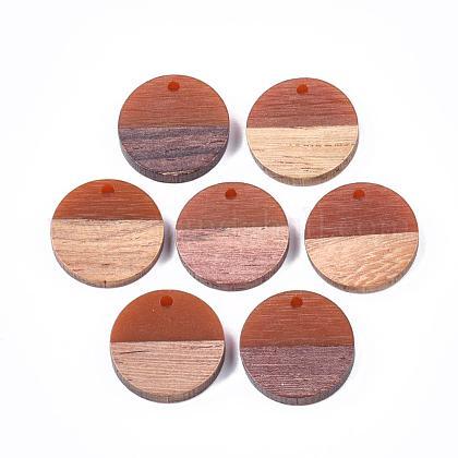 Colgantes de resina y madera de nogalRESI-S358-02C-09-1