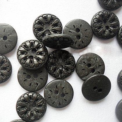 Tallado 2-hoyo botones básicos de costuraNNA0YZG-1