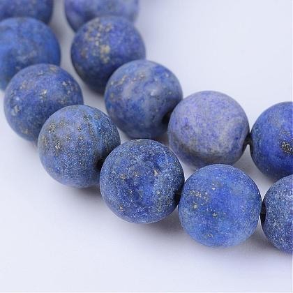 Lapis lazuli perles synthétiques brinsG-Q462-8mm-19-1