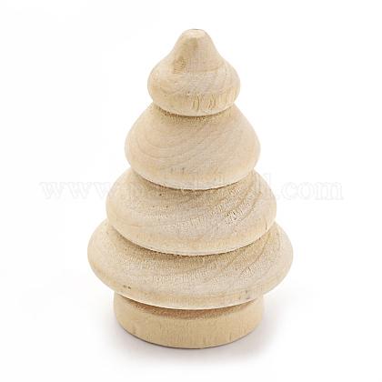 Árbol de navidad de madera en blanco sin terminarX-WOOD-S040-83-1