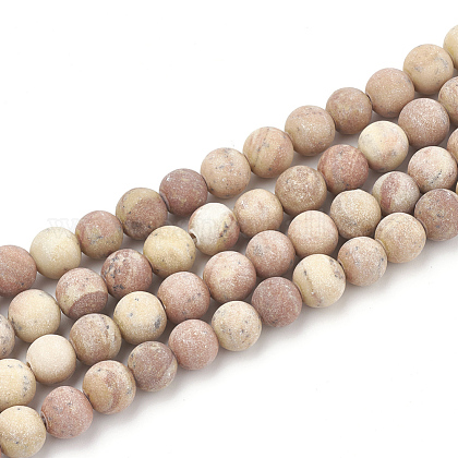 Natural Wood Lace Stone Beads StrandsG-T106-263-1