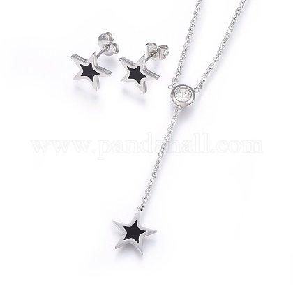 304 Stainless Steel Jewelry SetsSJEW-H144-09P-1