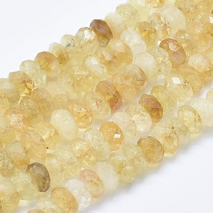 天然石シトリンビーズ連売りG-K246-28C-1