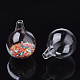 Handmade Blown Glass Globe BeadsBLOW-T001-01A-2