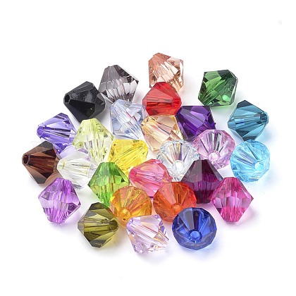 Transparent Acrylic Beads TACR-S146-6mm-M-1