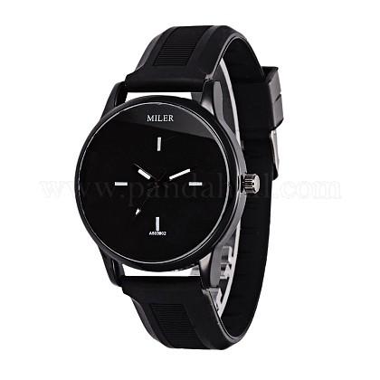 Fashionable Women's Alloy Silicone Quartz WristwatchesWACH-L025-02E-1
