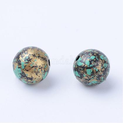 Antique Style Acrylic Beads OACR-S013-2012A-1