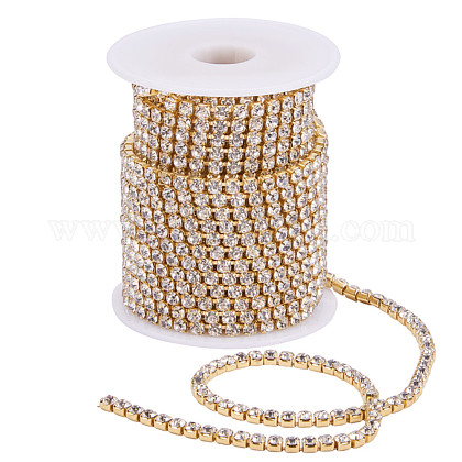 Cadenas de strass Diamante de imitación de bronceCHC-T001-SS18-01C-1