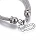 304 pulseras de acero inoxidable de la cadena de malla de aceroBJEW-O173-01-4