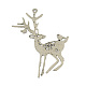 Tibetan Style Alloy Christmas Reindeer/Stag Big PendantsPALLOY-A13182-AS-RS-1