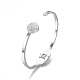 304 Stainless Steel Cuff BanglesBJEW-F390-01-4