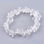 Natural Quartz Crystal Stretch Bracelets, 2