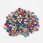 Grade AAA Pointed Back Resin Rhinestones, Diamond Shape, Mixed Color, 2.0mm; about 14400pcs/bag