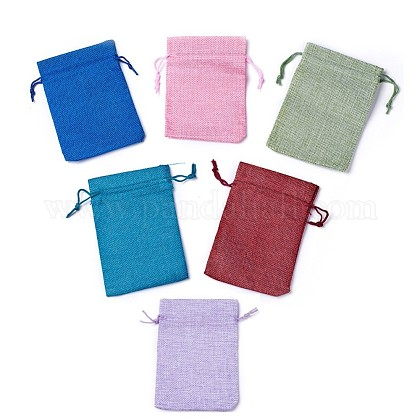 Burlap Packing Pouches Drawstring BagsABAG-X0001-01-1
