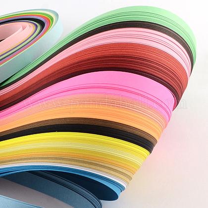 36色長方形クイリングペーパー紙 DIY-R041-02-1