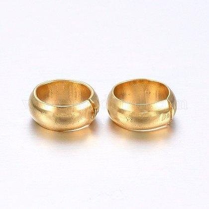 Caches perles à écraser en 304 acier inoxydableX-STAS-O098-04G-02-1