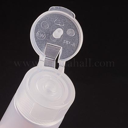 12ml peプラスチック製の空の詰め替え可能なフリップキャップボトルMRMJ-WH0037-13A-1