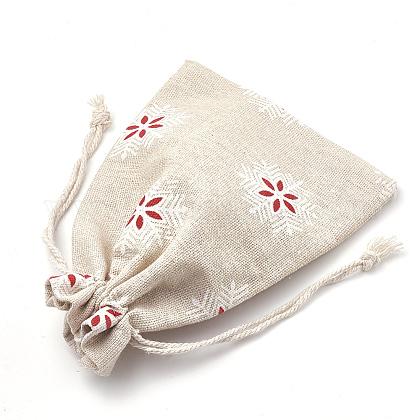 ポリコットン(ポリエステルコットン)パッキングポーチ巾着袋X-ABAG-S003-02A-1