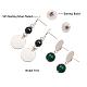 SUNNYCLUE® Alloy Stud EarringsEJEW-SC0001-14MS-3