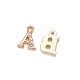 Light Gold Plated Alloy Rhinestone Charms ALRI-T008-01G-2