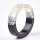 Resina epoxica & anillos de madera de ébanoRJEW-S043-01C-05-3
