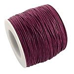 木綿糸ワックスコード, 暗紫, 1mm;約100ヤード/ロール(300フィート/ロール)