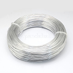Aluminum Wire, Flexible Craft Wire, for Beading Jewelry Doll Craft Making, Silver, 12 Gauge, 2.0mm; 55m/500g(180.4feet/500g)