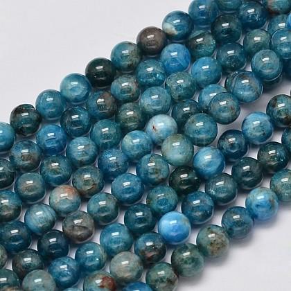 Apatita hebras de perlas redondas naturalesG-M304-14-6mm-1
