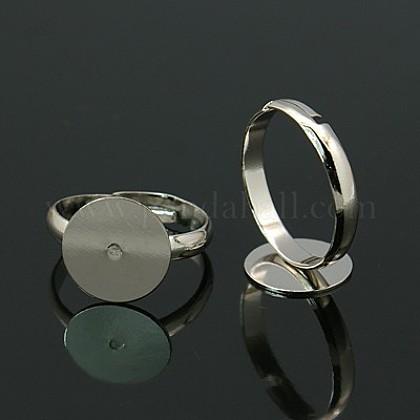 Bases de anillo de almohadilla de latónKK-EC022-12mm-N-NR-1