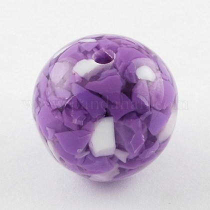 MediumOrchid Round Resin Beads X-RB219Y-1