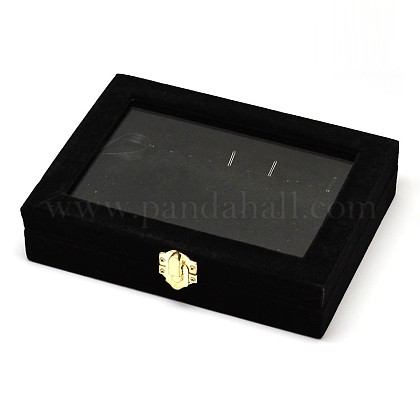 Wooden Rectangle Jewelry Boxes OBOX-L001-05B-1