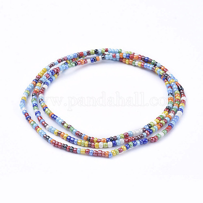 Glass Seed Beads Chain Belts NJEW-C00007-01-1