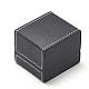 Plastic Imitation Leather Ring BoxesOBOX-Q014-25-2