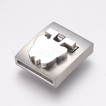 304 Stainless Steel Magnetic Clasps STAS-E144-168P-1