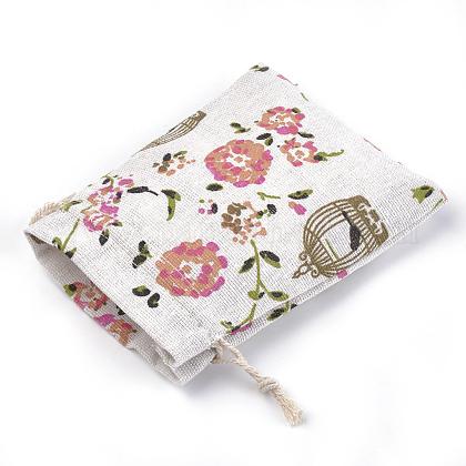 ポリコットン(ポリエステルコットン)パッキングポーチ巾着袋ABAG-S004-04E-10x14-1