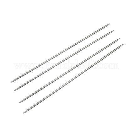 Agujas de tejer de doble punta de acero inoxidableTOOL-R044-350x3.25mm-1