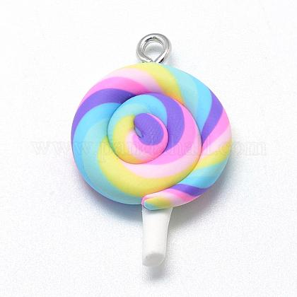 Handmade Polymer Clay Pendants CLAY-Q240-010A-1