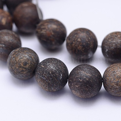 Natural Bronzite Beads StrandsG-D745-12mm-1