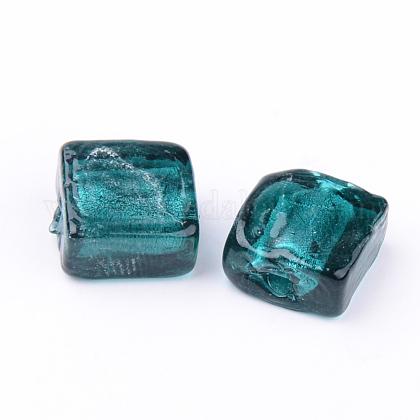 手作り銀箔ランプワークビーズX-FOIL-S006-12x12mm-04-1