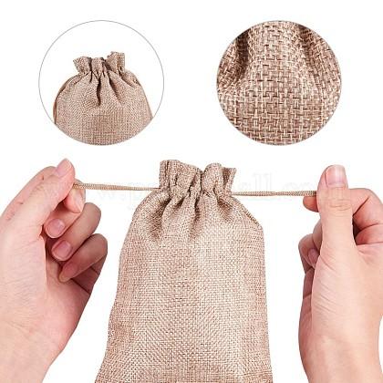 黄麻布ラッピングポーチ巾着袋ABAG-NB0001-01-1