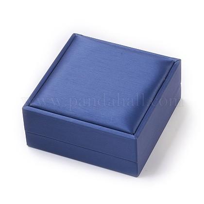 Imitación de seda cubierto de madera joyas brazalete cajasOBOX-F004-08-1
