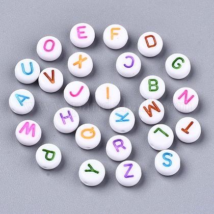 Cuentas acrílicas blancas opacasX-MACR-N012-01-1
