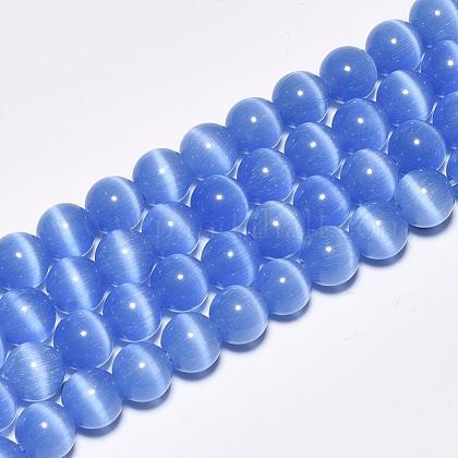 Chapelets de perles d'œil de chatCE-M011-14mm-07-1